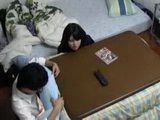 Japanese Schoolgirl Grabbed Her Tutors Dick Under The Table