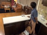 Horny Couple Fucked Behind The Bar On Their Friends Birthday Party