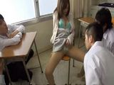 Sexy Milf Biology Teacher Giving Extra Lesson About Sexual Education To Group Of Teen Student After School