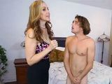 Busty Milf Abby Lee Pisseed After Caught Teen Boy Wanking In Her Bedroom