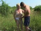 Picnic In Nature With Granny Ends With Good Fucking