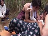 2 Village Girls Osuha Nanase and Ruca Kanae Trapped By Two Punks And Roughly Assaulted In The Field