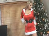 Busty Girl Made Private Video For Santa And Begs Him To Give Her Big Present