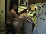 Cock Hungry Amateur BBW In The Kitchen Nailed