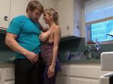 Sinful Blonde Milf Cornered Husbands Nephew Into Kitchen While Her Husband Were In Living Room