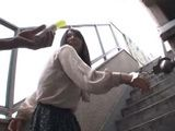 Tied Up For Stairs Fence Poor Neighbor Suffers Hard Torture By Perv Neighbor