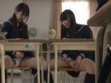 Teenage Student Shemales Yuzuka Shirai And Airi Sato Wanking Dick On Class