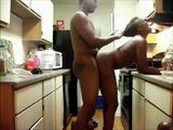 Black Housewife Hard Fucked By Neighbor In A Kitchen