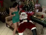 Santa Wish A Little Rest But This Slut Not Let Him