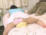 Lonely Japanese Teen Pillow Humping Masturbation