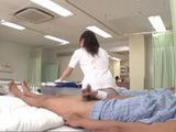 Japanese Nurse Has To Jerk Off Patient Cock To Calm Him Down  Sakaguchi Rena