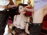 Brutal Double Penetration For Filthy Asian Bitch