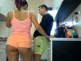 Two Hot Babes Teases His Hunk Friend Live