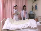 Japanese Doctor and Nurse taking Sperm Sample From patient In Coma Uncensored