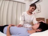 Lactating Mother Chisato Kawai Milks and Fucks Her Teen Son