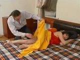 Sleeping Russian Step Mother Gets Fucked By her Step Son