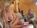 Pissed Off Daddy Shoked What His Stepdaughter Doing With Dildo
