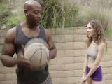 Muscular Bodybuilder Black Man Vs Petite White Teen