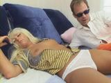 Sleeping Blonde Teen Gets Anal Fucked By Daddy
