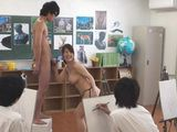 Japanese Busty Drawing Teacher Making Her Class More Interesting