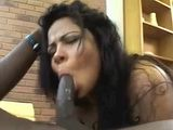 Ebony Brunette Takes BBC Ass To Mouth