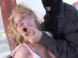 Kidnapped Blonde Gets  Fucked By Masked Kidnapper